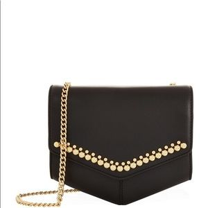 Sandro Lou Bag in Black Leather with Embellishment